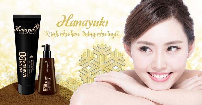 review mỹ phẩm hanayuki