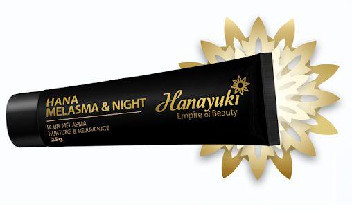 kem trị nám ban đêm hanayuki