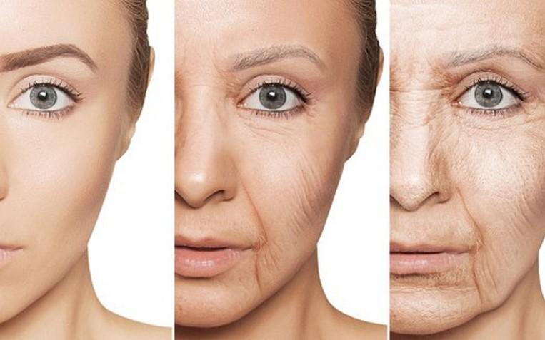 dấu hiệu lão hóa da mặt