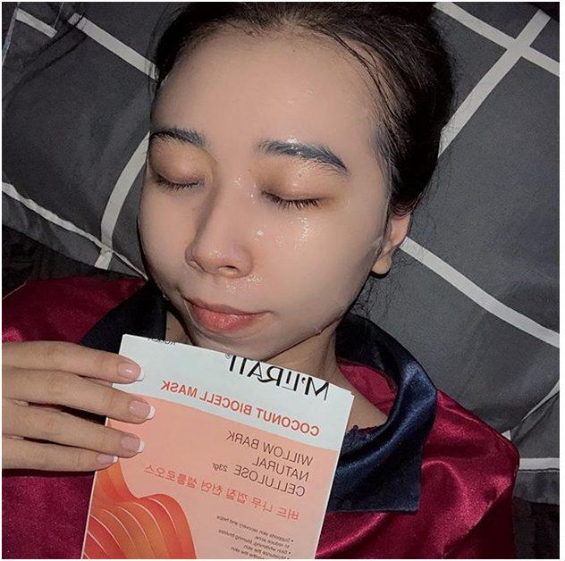 điều trị mụn tại nhà bằng mặt nạ m'lirati