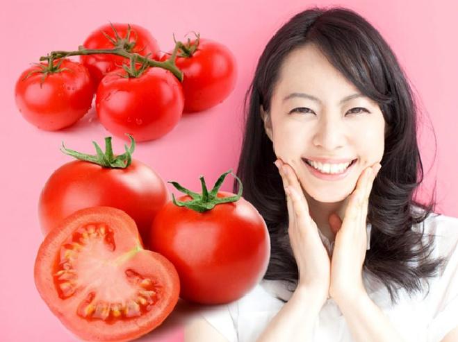 cách trị mụn đầu đen bằng cà chua