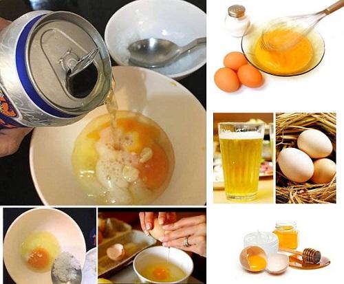 tắm trắng toàn thân tại nhà bằng bia và trứng gà