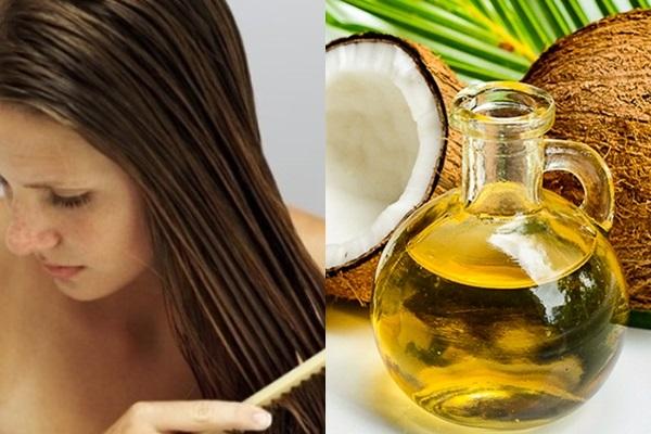 trị rụng tóc sau sinh bằng dầu dừa